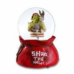 "Shrek Christmas Snow Globe - ""Shrek the Halls"" Shrek and Donkey By Roman by Roman. $27.99. 7"" Tall. Get Christmas Present. Quaility Prodict. Fast Shipping. Who knew shrek celebrated Christmas!"