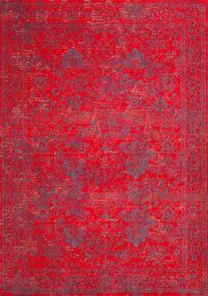 Teppich Orient-Muster | gefärbt gewebt | #feuerrot #rot #blau