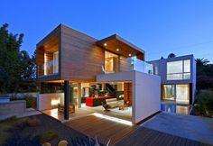 Einfamilienhaus neubau modern holz  Designhaus mit Holz und Kieselgarten | Haus/Wohnen | Pinterest ...