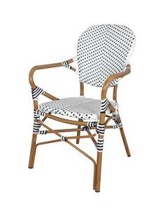 sillón exterior terraza hosteleria aluminio tejido sintético mobiliario ideal