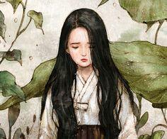 눈물 연못 (The Pool of Tears) by 애뽈 on Grafolio Korean Art, Asian Art, Forest Girl, Dibujos Cute, Beauty Art, Art Sketchbook, Chinese Art, Art Girl, Painting & Drawing