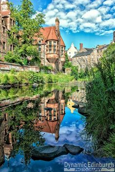 The Dean Village on the water of Leith, 5 minutes walk from Princes St, Edinburgh, Scotland