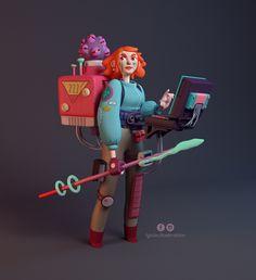 ArtStation - Futuristic Girl, Giulia Marchetti