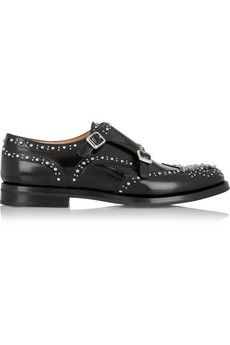 Church's Lana Met monk-strap studded leather brogues | NET-A-PORTER