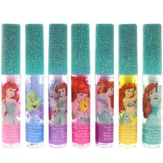 Disney Princess 7 Days of Ariel Lip Glosses Disney Princess Makeup, Disney Princess Gifts, Princess Toys, Disney Makeup, Princess Cakes, Toys For Girls, Gifts For Girls, Disney On Ice, Disney Cars