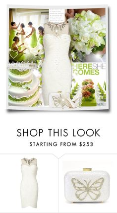 """""""Short Wedding Dress"""" by kiki-bi ❤ liked on Polyvore featuring Andrea, Adrianna Papell, HARRIET WILDE, wedding and shortweddingdress"""