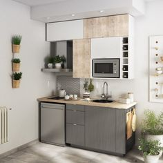 Small Apartment Decorating 838443655606208947 - Petite cuisine pour studio Source by jjbrus Small Apartment Interior, Small Apartment Kitchen, Small Space Kitchen, Kitchen Room Design, Small Apartment Decorating, Home Decor Kitchen, Interior Design Kitchen, Home Kitchens, Micro Kitchen