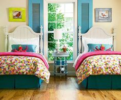 """Love this look for the girls """"big girl"""" bed/room"""