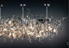 Andromeda Murano Nastro Sub Zero Island Ceiling Light design idea as seen on www.interiordesignpro.org