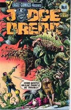"US reprint Eagle Comics Presents Judge Dredd #4 cover by Brian Bolland for Dredd story ""Father Earth"""