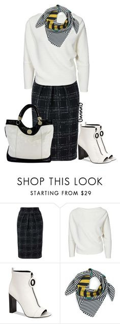 """""""Black and white/work wear"""" by ganing on Polyvore featuring мода, Calvin Klein, Jill Stuart, WorkWear, Sweater, stylish и polyvoreatitsbest"""