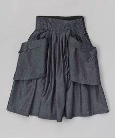 Look at this Chambray Pocket Skirt - Toddler & Girls on #zulily today!