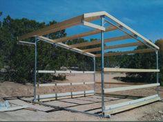 DIY horse shelter metal poles - Google Search
