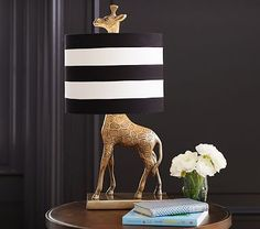 Cute and creative, this shining giraffe lamp offers a safari-chic lighting solution. Imagined with fashion designers Emily Current and Meritt Elliott, it captures their adventurous aesthetic.