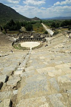 Ephesus,Turkey You can read about a riot that happened here in Acts 19:23