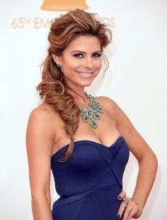 Mara Menounos fishtail braid at the Emmys