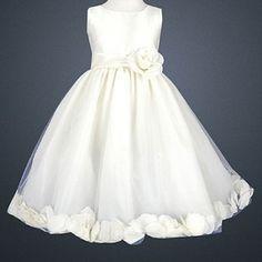 LITO Special Occasion IVORY Petal Wedding Flower Girls Dress 2T-12