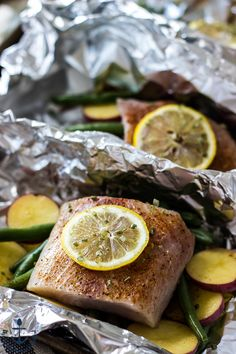 These Grilled Mahi Mahi and Vegetables in Foil Packets are a win-win for summer…