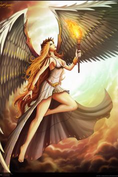Bia- Greek myth: a titaness that personified force and raw energy. She was the daughter of Pallas and Styx. She was a winged enforcer at Zeus's throne and formed part of his Retinue.