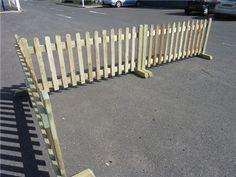 moveable picket fence, für sie Einfahrt