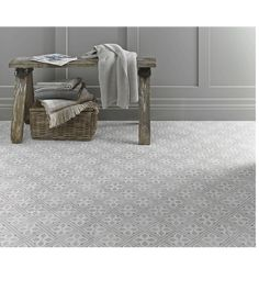 Bring timeless style into any room of the home with this Mr. Jones ceramic floor tile from The Heritage Collection. Initially introduced in 1984 by Laura Ashley herself, this square floor tile features geometric patterns and historic influence to keep it on trend.