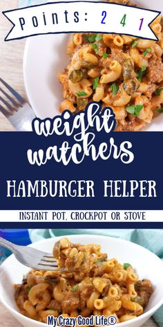 This homemade Weight Watchers Hamburger Helper recipe is just as easy to make as the boxed version, but its healthier an Weight Watchers Meal Plans, Weight Watcher Dinners, Kid Friendly Weight Watchers, Weight Watchers Pasta, Ground Beef Recipes For Dinner, Instant Pot Dinner Recipes, Crockpot Ground Turkey Recipes, Recipes Dinner, Fodmap