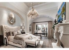 The Ultimate Luxury Master Bedroom Ideas Trick Your bedroom plays a valuable part in receiving the sleep your body requires, but it's more than only a space for sleeping. Master bedroom is thought … Dream Master Bedroom, Master Bedroom Design, Large Bedroom, Home Decor Bedroom, Master Suite, Bedroom Ideas, Master Bedrooms, Bedroom Brown, Bedroom Inspiration
