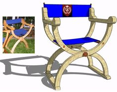 Folding Director's Chair #106 | 3D Woodworking Plans