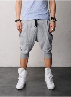 Mens Ricky Double Pocket Drop Crotch Baggy Jersey Shorts at Fabrixquare