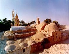 A Christian Coptic Orthodox monastery in Egypt.