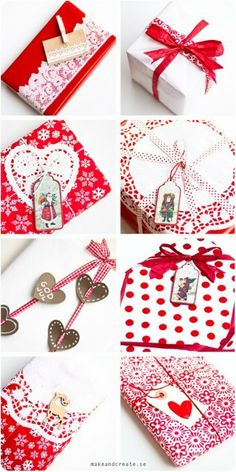 Christmas gift wrapping ideas - from Craft & Creativity. Would love for Valentine's Day as well. Wrapping Ideas, Present Wrapping, Creative Gift Wrapping, Creative Gifts, Christmas Gift Wrapping, Christmas Crafts, Scandi Christmas, Christmas Baking, Gift Wraping