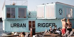Copenhagen just installed Urban Rigger, an experimental affordable housing project made of floating shipping container dorms.