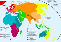 alternate world religions map by whanzel on DeviantArt Alternate Worlds, Alternate History, Fantasy Map, World Religions, Judaism, Cartography, World History, Deviantart, Genre