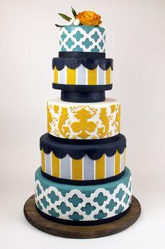 Unique cake in my colours :)