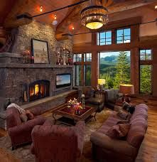 Cozy Living Room With Fireplace mendota hearth fireplace with brick background. greenbriar