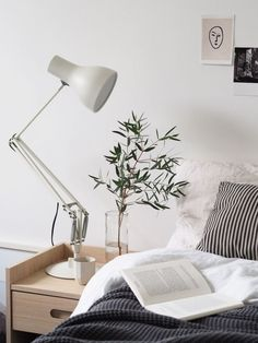 Home styling ideas - light Scandinavian bedroom. My top ten tips for getting into interior design and styling