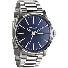 A bright, clean dial tops a sleek watch cast in a classic brushed patina and set on a sharp link bracelet. Style Name:Nixon Sentry Bracelet Watch, Style Number: Available in stores. Casual Watches, Watches For Men, Nixon Watches, Fancy Watches, Expensive Watches, Stainless Steel Watch, Stainless Steel Bracelet, Shops, Snowboards