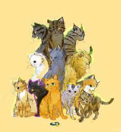 Warrior Cats: Into the Wild: Darkstripe, Tigerclaw, Longtail, Whitestorm, Bluestar, Lionheart, Sandpaw, Ravenpaw, Firepaw, Greypaw, Spottedleaf, and Dustpaw