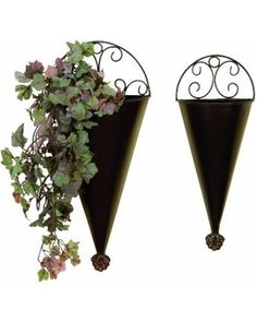 Save Your Pennies! Deals on DecMode Metal Wall Planters - Set of 2