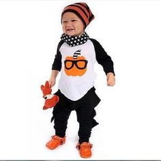 Cheap bebe clothes, Buy Quality baby clothing set directly from China baby clothing Suppliers: 2017 New Fashion Pattern Baby Clothing Set Cosplay Costume Cotton Long Sleeve T-shirt Top+Personal Pants 2 Pcs Set Bebe Clothes Baby Outfits Newborn, Baby Boy Outfits, Kids Outfits, Boy Newborn, Baby Boy Halloween, Halloween Outfits, Newborn Halloween, Halloween Clothes, Halloween Party