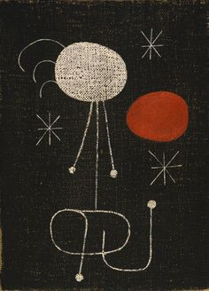 Joan Miró, Woman in Front of the Sun, 1944.