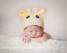 Newborn Giraffe Hat Beanie by BlendedLove on Etsy, $19.00