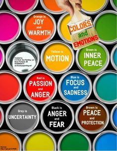Colors and Emotions #Infographic