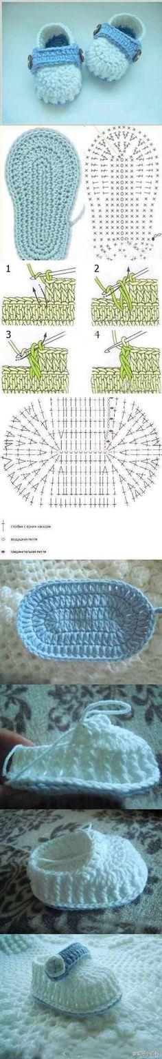 tutorial sapatinhos de croche