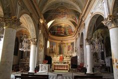Inside St Martin Church                      Portofino, Italy