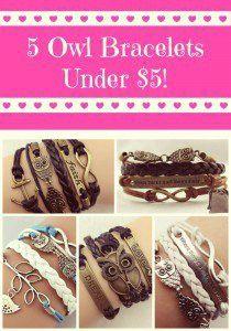 5 Owl Bracelets Under $5! - Simply Sherryl