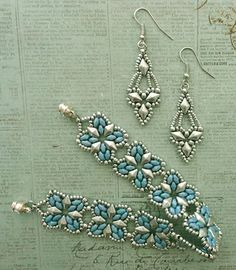 Linda's Crafty Inspirations: Arabella Earrings - Matte Silver
