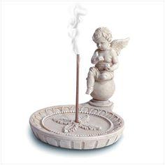 Image detail for -Cherub Round Incense Holder Praying Hands Images, Incense Holder, Incense Burner, Cherub, Feng Shui, Healing, Ceramics, Free Images, Stage