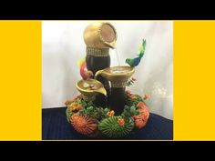 Best out of waste || LIVE FOUNTAIN || How to reuse waste plastic jars || DIY || lets make art - YouTube