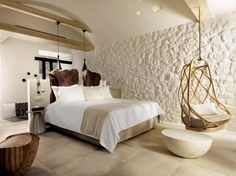 COCOON boutique hotel inspiration bycocoon.com | interior design | hotel projects | bathroom design | design products | renovations | Dutch Designer Brand COCOON | Beach room. KENSHŌ Luxury Hotel in Mykonos